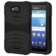 Load image into Gallery viewer, Hybrid Dual Layer U Kickstand Case - Black/ Black for Kyocera Hydro Air C6745