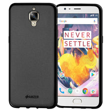 Load image into Gallery viewer, AMZER Shockproof Pudding TPU Skin Case for OnePlus 3 - Black