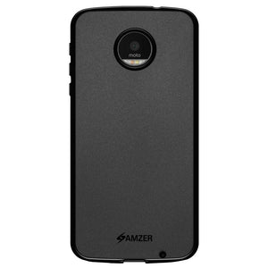 AMZER Pudding TPU Case - Black for Motorola Moto Z