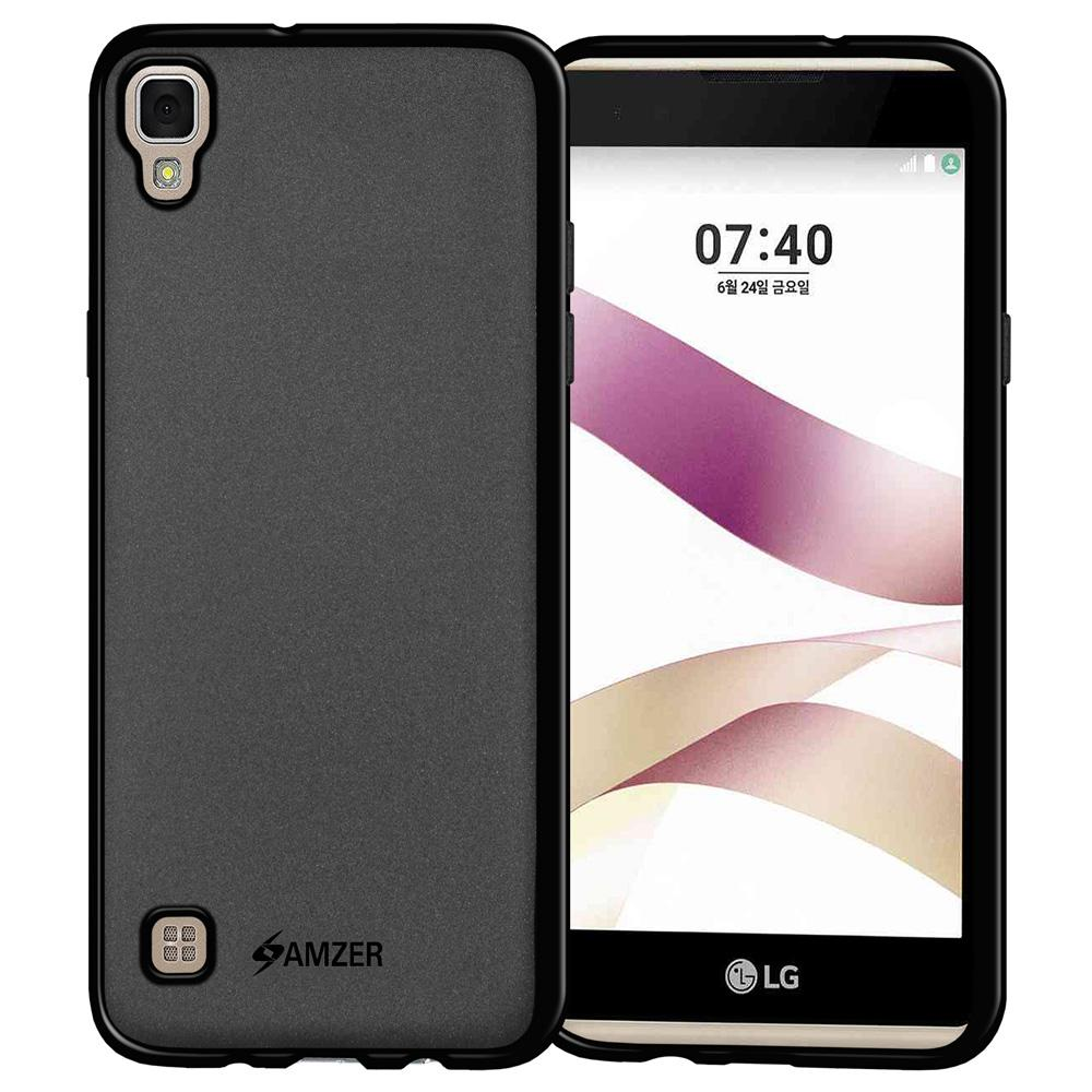 AMZER Pudding TPU Case - Black for LG X Skin