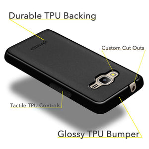 AMZER Pudding TPU Case - Black for Samsung Z2 SM-Z200F