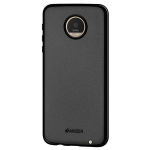 AMZER Pudding TPU Case - Black for Motorola Moto Z Play