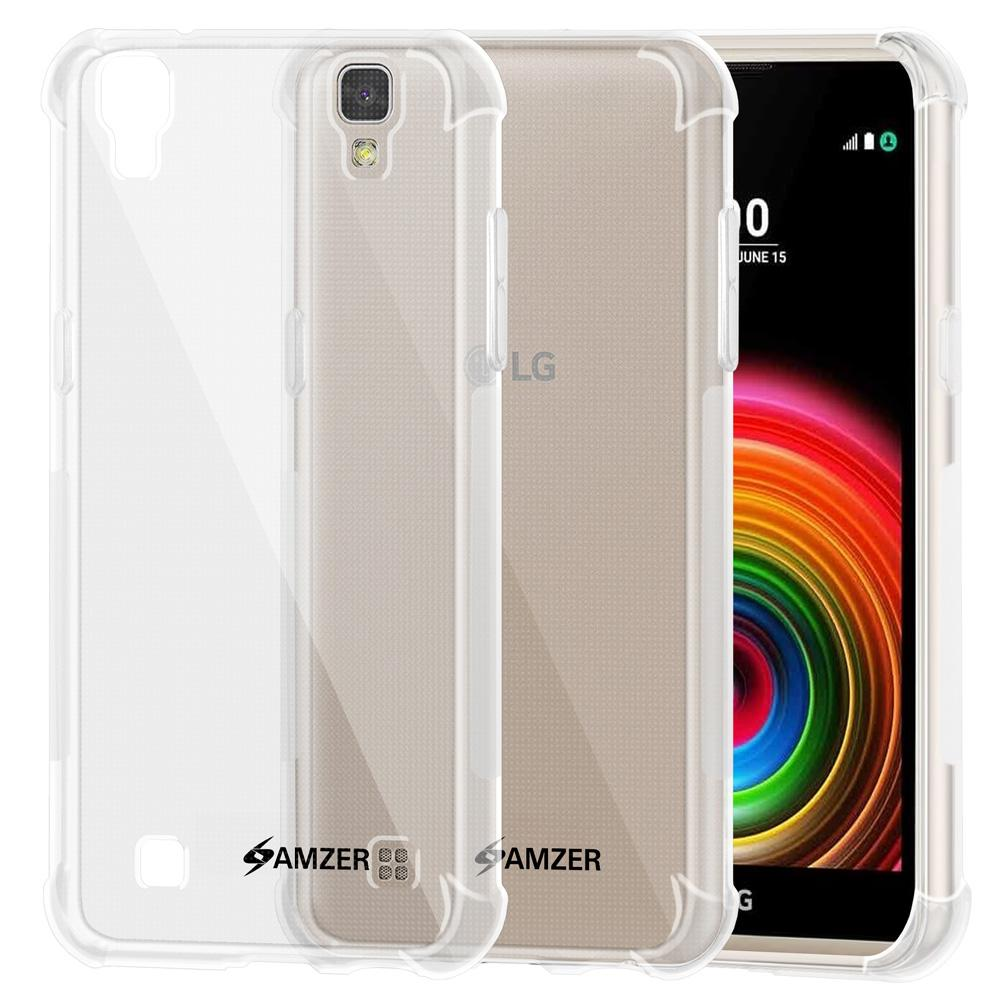 AMZER Pudding TPU X Protection Case - Crystal Clear for LG X Power