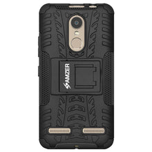 Load image into Gallery viewer, AMZER Hybrid Warrior Dual Layer Case With Kickstand for Lenovo K6 - Black/Black