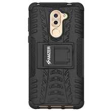 Load image into Gallery viewer, AMZER Hybrid Warrior Dual Layer Case for Huawei GR5 2017 - Black/Black