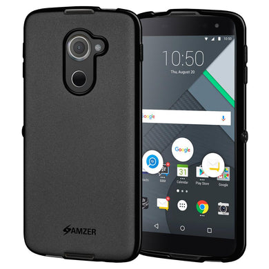 AMZER Shockproof Pudding TPU Skin Case for BlackBerry DTEK60 - Black