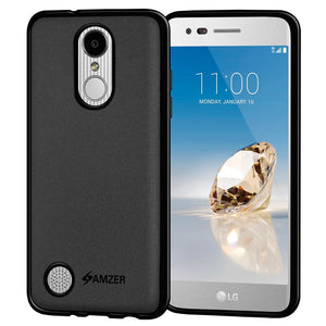 AMZER Pudding TPU Case - Black for LG Aristo MS210