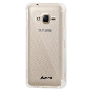 AMZER Pudding TPU X Protection Case - Crystal Clear for Samsung GALAXY J1 Mini SM-J105B