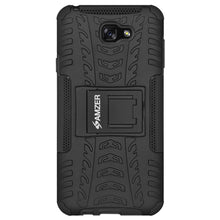 Load image into Gallery viewer, AMZER Hybrid Warrior Dual Layer Case for Samsung Galaxy A7 2017 - Black/Black