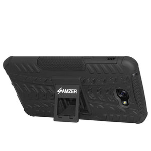 AMZER Hybrid Warrior Dual Layer Case for Samsung Galaxy A7 2017 - Black/Black