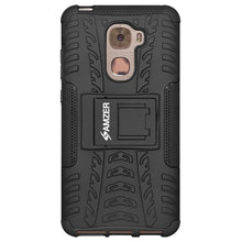 Load image into Gallery viewer, AMZER Hybrid Warrior Dual Layer Kickstand Case for LeEco Le Pro3 - Black/Black