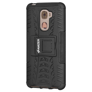 AMZER Hybrid Warrior Dual Layer Kickstand Case for LeEco Le Pro3 - Black/Black