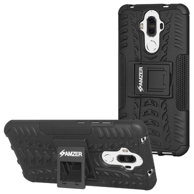 AMZER Shockproof Warrior Hybrid Case for Huawei Mate 9 - Black/Black