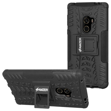 AMZER Shockproof Warrior Hybrid Case for Xiaomi Mi Mix - Black/Black