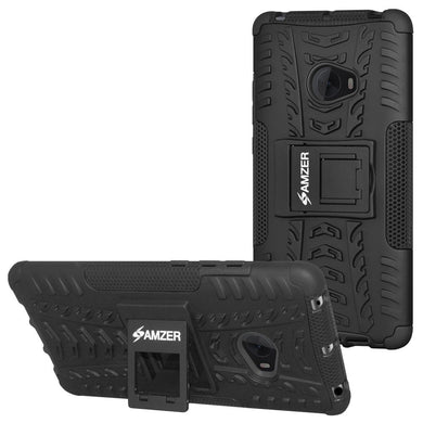 AMZER Shockproof Warrior Hybrid Case for Xiaomi Mi Note 2 - Black/Black