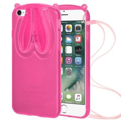 AMZER TPU Case With Rabbit Ears - Pink for iPhone 7 8 SE 2020