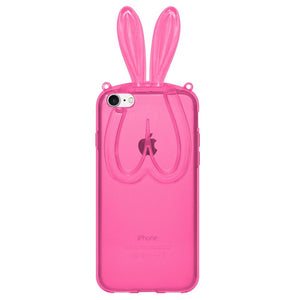 AMZER TPU Case With Rabbit Ears - Pink for iPhone 7