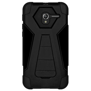 AMZER® Dual Layer Hybrid KickStand Case - Black/ Black for Alcatel OneTouch Pop 3 5