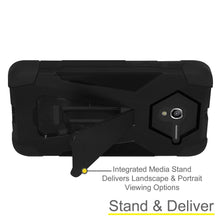 Load image into Gallery viewer, AMZER® Dual Layer Hybrid KickStand Case - Black/ Black for Alcatel OneTouch Pop 3 5