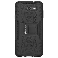 Load image into Gallery viewer, AMZER Warrior Hybrid Case for Samsung Galaxy Amp Prime 2 - Black/Black
