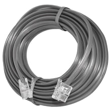 Load image into Gallery viewer, AMZER High Quality Telephone Line Cord Heavy Duty Lifetime Warranty 4 Conductor 25 Ft. - Satin Grey