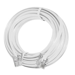 AMZER High Quality Telephone Line Cord Heavy Duty Lifetime Warranty 4 Conductor 7 Ft. - White