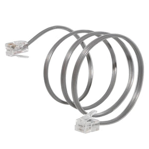 AMZER High Quality Telephone Accessory Line Cord 2 Ft. - Satin