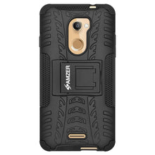 Load image into Gallery viewer, AMZER Shockproof Warrior Hybrid Case for Coolpad Note 3S - Black/Black