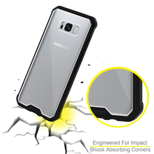 SlimGrip Shockproof Hybrid Case with Black Trim for Samsung Galaxy S8