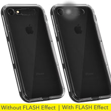 Load image into Gallery viewer, Color Flash Effect Case - Clear/ Black for iPhone 7