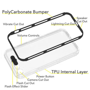 Color Flash Effect Case - Clear/ Black for iPhone 7
