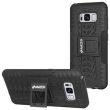 Load image into Gallery viewer, AMZER Hybrid Warrior Case for Samsung Galaxy S8 - Black/Black