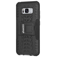 Load image into Gallery viewer, AMZER Shockproof Warrior Hybrid Case for Samsung Galaxy S8 Plus - Black/Black