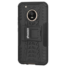 Load image into Gallery viewer, AMZER Shockproof Warrior Hybrid Case for Motorola Moto G5 Plus - Black/Black