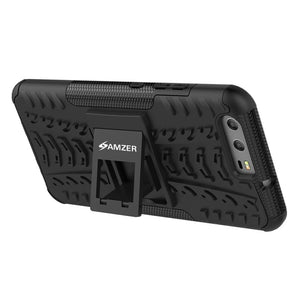 AMZER Shockproof Warrior Hybrid Case for Huawei P10 - Black/Black