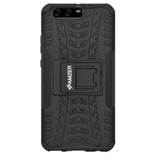 Load image into Gallery viewer, AMZER Shockproof Warrior Hybrid Case for Huawei P10 Plus - Black/Black