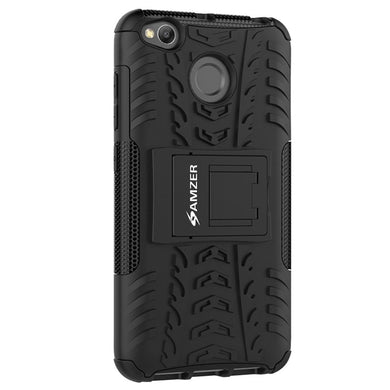 AMZER Shockproof Warrior Hybrid Case for Xiaomi Redmi 4 - Black/Black