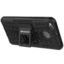 Load image into Gallery viewer, AMZER Shockproof Warrior Hybrid Case for Xiaomi Redmi 4 - Black/Black
