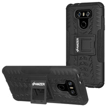 Load image into Gallery viewer, AMZER Shockproof Warrior Hybrid Case for LG G6 - Black/Black