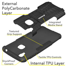 Load image into Gallery viewer, AMZER Shockproof Warrior Hybrid Case for Vivo V3Max - Black/Black