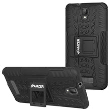 Load image into Gallery viewer, AMZER Shockproof Warrior Hybrid Case for ZTE Blade L5 - Black/Black