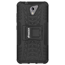 Load image into Gallery viewer, AMZER Shockproof Warrior Hybrid Case for ZTE A510 - Black/Black