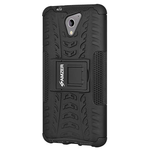AMZER Shockproof Warrior Hybrid Case for ZTE A510 - Black/Black