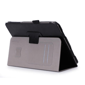AMZER Shell Portfolio Case - Black Leather Texture for Samsung GALAXY Tab S3