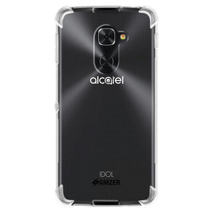 AMZER Shockproof Pudding TPU X Protection Skin Case for Alcatel Idol 4 Pro Clear