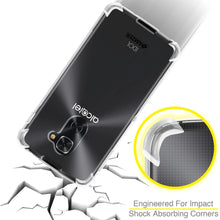 Load image into Gallery viewer, AMZER Shockproof Pudding TPU X Protection Skin Case for Alcatel Idol 4 Pro - Clear