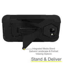 Load image into Gallery viewer, AMZER Dual Layer Hybrid KickStand Case - Black/ Black for LG K3
