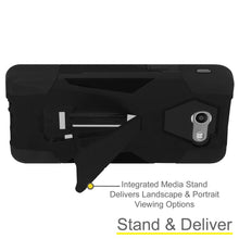 Load image into Gallery viewer, AMZER Dual Layer Hybrid KickStand Case for Samsung Galaxy Halo SM-J727A - Black