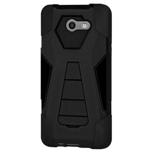 AMZER Dual Layer Hybrid KickStand Case for Samsung Galaxy Halo SM-J727A - Black