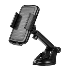 Load image into Gallery viewer, Universal Dashboard, Windshield Phone Car Mount Phone Holder With Adjustable Extension Arm - Black